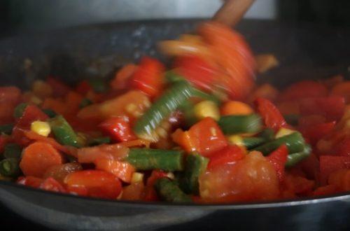 snadné zdravé jídlo - zeleninová směs